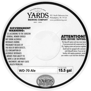 Yards Brewing Company Wd-70 Ale