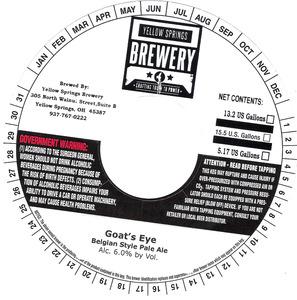 Yellow Springs Brewery Goat's Eye