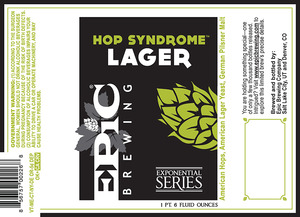 Epic Brewing Company Hop Syndrome