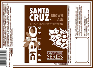 Epic Brewing Company Santa Cruz Brown