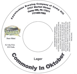 Appalachian Brewing Co Commonly In Oktober