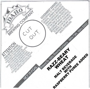 Idaho Brewing Company Razz-beary Wheat