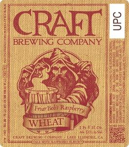 Craft Brewing Company Friar Bobs Raspberry Wheat