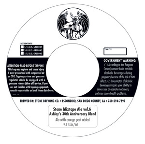 Stone Brewing Co Stone Mixtape Ale Vol. 6 July 2013