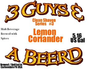 3 Guys & A Beer'd LLC Lemon Coriander