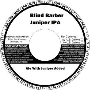 Kelso Beer Company Blind Barber Juniper IPA