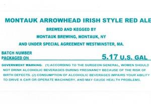 Montauk Brewing Montauk Arrowhead Irish