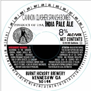 Burnt Hickory Brewery Cannon Clasher Spanish Bombs
