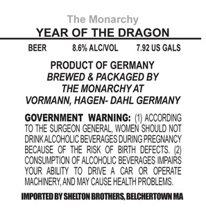 The Monarchy Year Of The Dragon