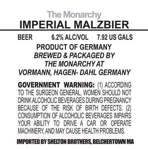 The Monarchy Imperial Malzbier