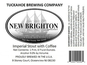 Tuckahoe Brewing Company New Brighton Coffee Stout July 2013