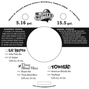 Mother's Brewing Company Three Blind Mice