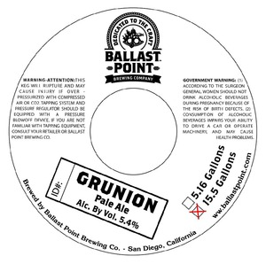 Ballast Point Brewing Company Grunion