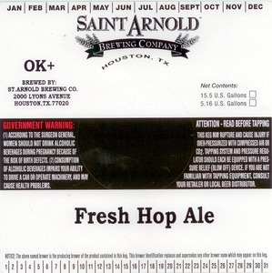 Saint Arnold Brewing Company Fresh Hop Ale
