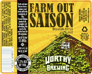 Worthy Farm Out Saison August 2013