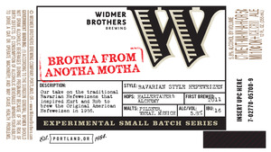 Widmer Brothers Brewing Company Brotha From Anotha Motha