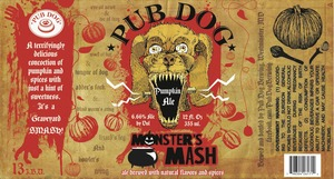Pub Dog Monsters Mash
