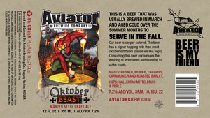Aviator Brewing Company Oktoberbeast