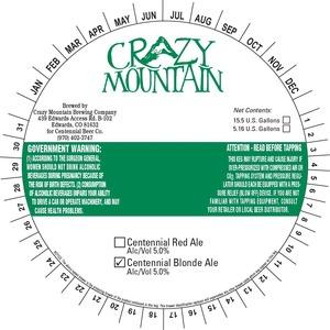 Crazy Mountain Centennial Blonde