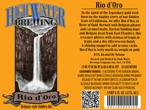High Water Brewing Rio D'oro