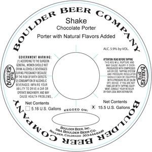 Boulder Beer Shake