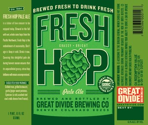 Great Divide Brewing Company Fresh Hop August 2013