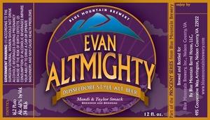 Blue Mountain Brewery Evan Altmighty