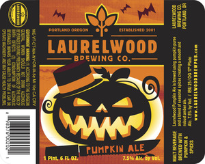Laurelwood Brewing Co. Pumpkin Ale