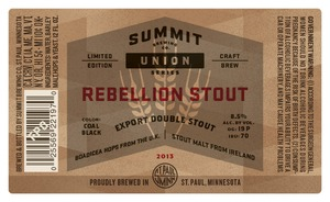 Summit Brewing Company Rebellion Stout