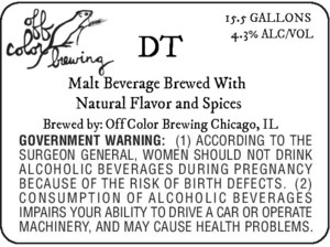 Off Color Brewing Dt