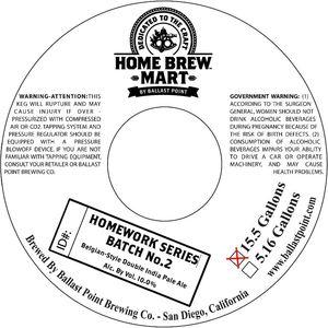 Home Brew Mart Homework Series Batch No.2