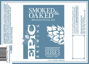 Epic Brewing Company Smoked And Oaked Belgian-style