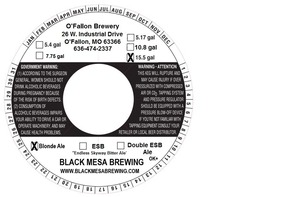 Black Mesa Brewing Blonde