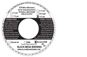 Black Mesa Brewing Double Esb