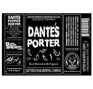 Battered Boar Brewing Company Dante's Porter