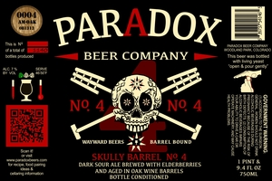 Paradox Beer Company Inc Skully Barrel No. 4