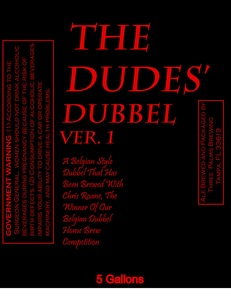Three Palms Brewing The Dudes' Dubbel