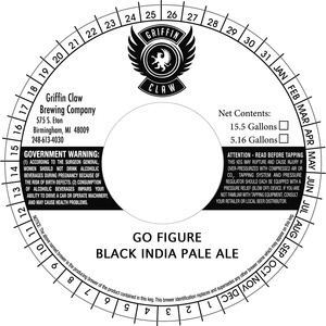 Griffin Claw Brewing Company Go Figure Black