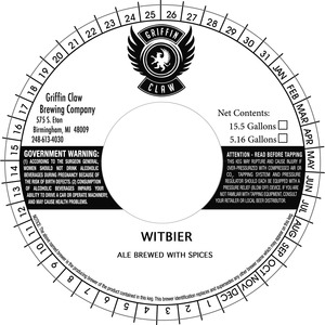 Griffin Claw Brewing Company Witbier