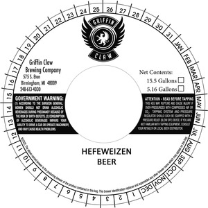 Griffin Claw Brewing Company Hefeweizen