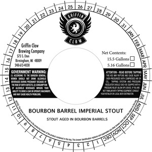 Griffin Claw Brewing Company Bourbon Barrel Imperial Stout