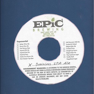 Epic Brewing Brainless IPA