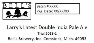 Bell's Larry's Latest Double India Pale Ale