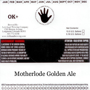 Left Hand Brewing Company Motherlode