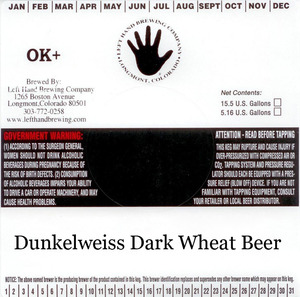 Left Hand Brewing Company Dunkelweiss