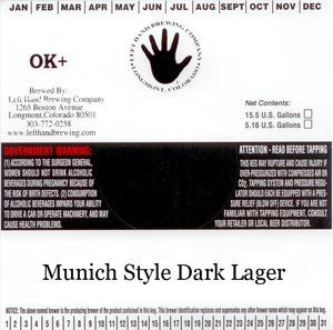 Left Hand Brewing Company Munich Style Dark