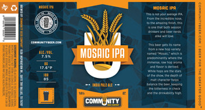Community Beer Company Mosaic IPA