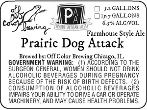 Off Color Brewing Prairie Dog Attack