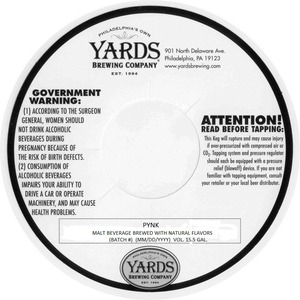 Yards Brewing Company Pynk