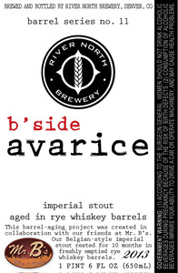 River North Brewery B Side Avarice